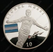 Lionel Messi World Cup Football Sport Silver Commemorative Coin Fans Collectible