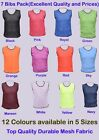 7 FOOTBALL MESH TRAINING SPORTS BIBS Kids/Youth and Adult Sizes