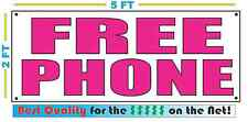 FREE PHONE Magenta Pink Banner Sign NEW LARGER SIZE Best Quality for the $$ CELL