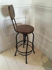 Adjustable height Kitchen Stool with Back Rest urban vintage industrial retro