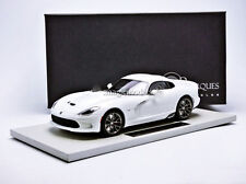 TOP MARQUES COLLECTIBLES 2014 Dodge Viper GTS SRT White 1/18 Scale New!