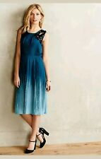 New Anthropologie Cerulean Depths Midi Dress by Yoana Baraschi SMALL