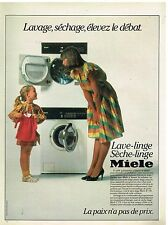 Publicité Advertising 1984 Machine à laver et sèche linge Miele