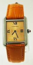 Ladies Cartier Tank Solo Stainless Steel Watch Limited Edition Orange W1019455