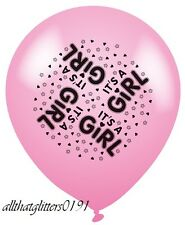 8 X I'ts A Girl Pink Balloon Suitable For Baby Shower Or Birth.