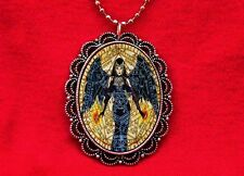WITCH PENTAGRAM WINGS DARK ANGEL VINTAGE PENDANT NECKLACE WICCA