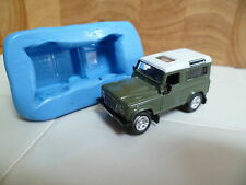 3D LAND ROVER DEFENDER STATION WAGON SILICONE MOULD FOR CAKE TOPPERS, CHOC ETC