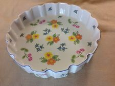 """9"""" QUICHE OVENWARE ROMANCE FOR TASTE SELLER SIGMA BY GAIL LEVITES-MADE IN JAPAN"""