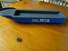 LEGO  54100c02pb02 BLUE BOAT HULL DARK GREY DECK 51 x 12 x 5  STICKERS ON 1 SIDE