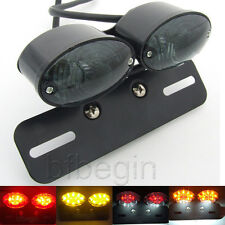 LED Motorcycle Tail Light Quad ATV Turn Signal License Plate Integrated Lamps