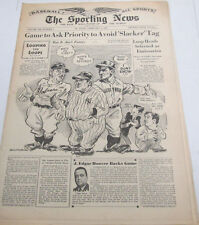 The Sporting News Newspaper   J. Edgar Hoover  February 8,1945   101014lm-eB3