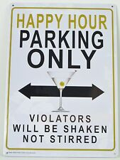 Happy hour parking only - tin sign PICTURE BAR DECOR