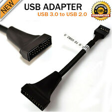 Hight Speed USB 2.0 9Pin Housing Male To Motherboard USB 3.0 20pin Female Cable