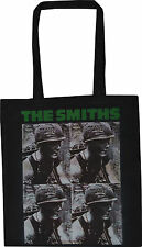THE SMITHS BLACK COTTON TOTE SHOPPER BAG MEAT IS MURDER MORRISSEY ENGLISH VEGAN