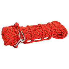 Red Outdoor Mountain Rock Tree Climbing Rescue Auxiliary Rope Safety Gear 10mm