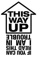 This way up Sticker for Cars Walls Funny Graphic Vinyl Car Decal Peugeot vw JDM