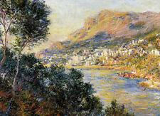 Oil painting Claude Monet - Monte Carlo Seen from Roquebrune nice landscape