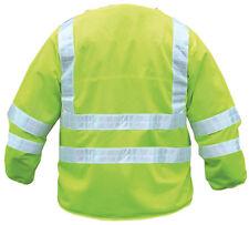 Reflectante over-vest chaqueta Hi-vis hi-visibility chaqueta ¾ Manga Larga De Abrigo