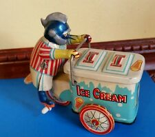 RARE Custom Gigantor Tetsujin 28 on tin litho wind up Clockwork Ice Cream Vendor