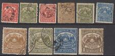 Chile Telegraph Stamps used collection 10 diff stamps Barefoot cv $26