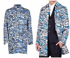 NWT DSQUARED2 pool stampa CAPPOTTO IMPERMEABILE IMPERMEABILE. UK 38R, essa 48R, medio