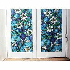 Fancy-fix Vinyl Static Cling Stained Glass Decorative Window Privacy Film