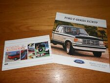1988 FORD F-SERIES PICKUP TRUCK 24 p. BROCHURE + 44 p. ACCESSORIES CATALOG 88