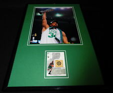 Paul Pierce Framed 11x17 Game Used Floor & Photo Display Celtics Champs