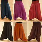 HAREM TROUSERS HIPPY BOHO ALADIN ALIBABA GENIE JUMPSUIT Baggy Pants YOGA Cotton