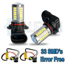VW Touareg 7P5 10-on Bright LED Fog Light HB4 9006 31w 33 SMD lens White Bulbs
