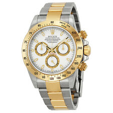 Rolex Cosmograph Daytona White Dial Stainless Steel and 18K Yellow Gold Rolex