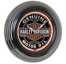 Harley-Davidson® Oil Can Neon Clock. HDL-16617