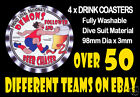 4 x DEMONS MELBOURNE OR OTHER FOOTBALL AUSSIE RULES DRINK COASTERS