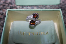 NEW Judith Ripka Sterling Silver Madeira   Citrine & Diamonique Estate Ring 5