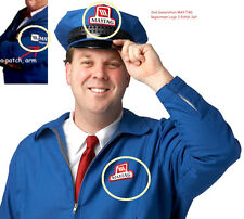 FANCY DRESS HALLOWEEN COSTUME PROP: 2nd GENERATION MAYTAG REPAIR MAN 3-PATCH