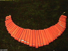 Red Jasper Graduated Collar, Cleopatra, Egyptian Fan 41 pieces