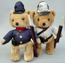 Steven Smith Teddy Bear x 2 Plush Civil War Soldier Union & South w Rifle Musket