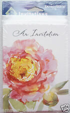 American Greetings AN INVITATION 8 Pack of Invites Pretty Pink Flower Design