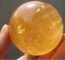 NATURAL CITRINE CRYSTAL SPHERE BALL HEALING GEMSTONE 40MM +Stand