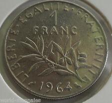 1 franc semeuse 1964 : TTB : pièce de monnaie française