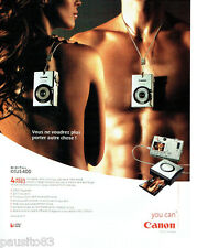 PUBLICITE ADVERTISING 056  2003  Canon appareil photo Digital ixus 400