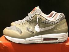 2012 Men Nike Air Max 1 Fuse Metallic Silver White Red Black Size 10.5 Used Rare