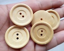 20Pcs camel color wood Sewing Buttons 2holes 30MM