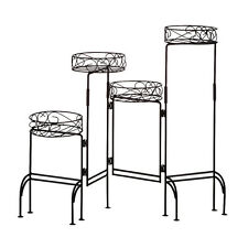 4 TIER Black Metal PLANT STAND Folding Screen NEW NIB