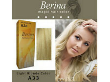BERINA PERMANENT A33 COLOR NEW HAIR DYE CREAM LIGHT BLONDE COLOR FREE SHIPPING