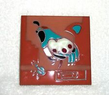 "Cleo Teissedre Hand Painted Tile Coaster Quail Terra cotta  Art 4"" by 4"" Pottery"