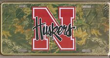 Nebraska Cornhuskers N Huskers Camo Metal Car Tag Automobile License Plate New