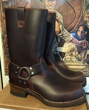 CUSTOM WESCO RJL LTD Harness Boots Cigar Brown Domain Leather 10.5 D