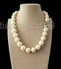 14mm AAA+ White south sea shell pearl necklace 18""