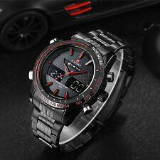 Naviforce Waterproof Stainless Steel LED Date Analog Digital Men's Quartz Watch